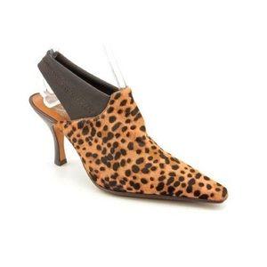 Donald j plainer Malema cheetah calf hair heel